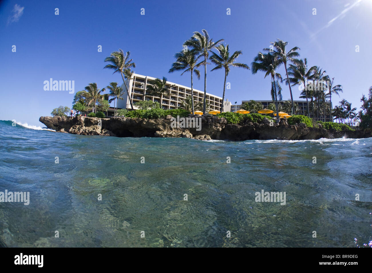 Turtle Bay resort on the north shore of Oahu Hawaii. - Stock Image