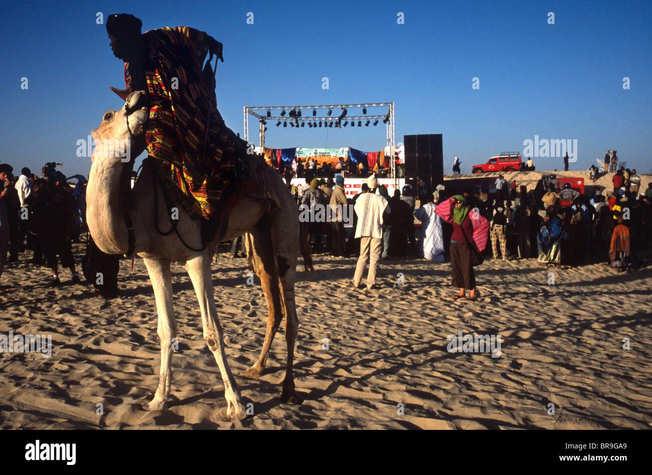 Festival au Desert music festival in Essakane Mali. - Stock Image