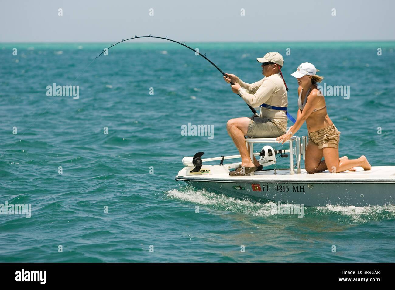 Fishing for tarpon on florida 39 s boca grande pass stock for Tarpon fishing florida