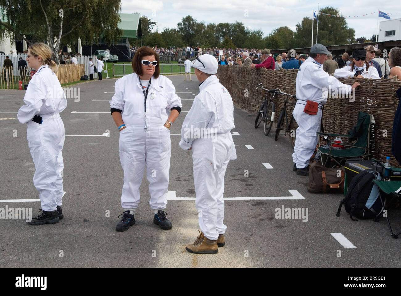 Goodwood Festival of Speed. Goodwood Sussex. UK. Ladies of the Pits. - Stock Image
