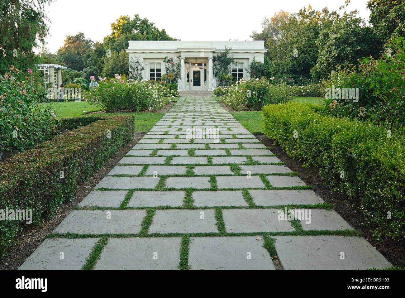 Beautiful walkway leading to the Tea Room. - Stock Image