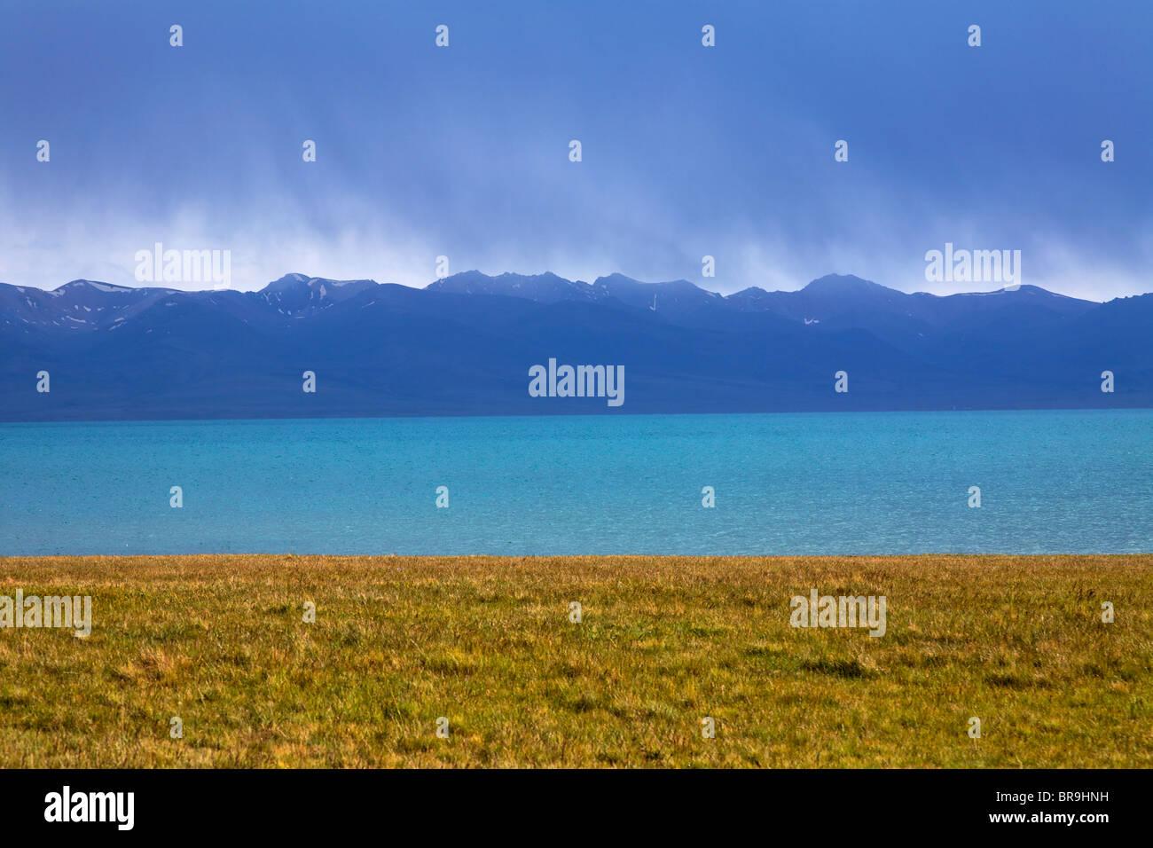 Lake Song Kul, Kyrgyzstan - Stock Image