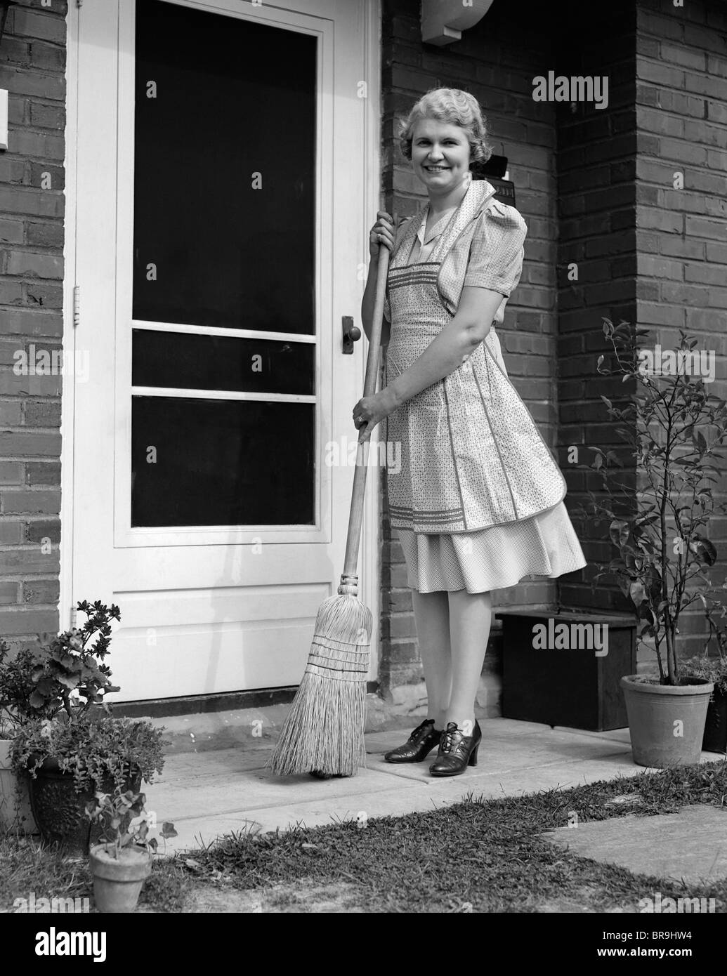 0c48e6321 Retro Woman Cleaning Stock Photos   Retro Woman Cleaning Stock ...