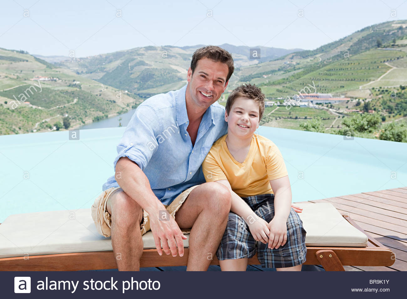 Father and son on holiday - Stock Image