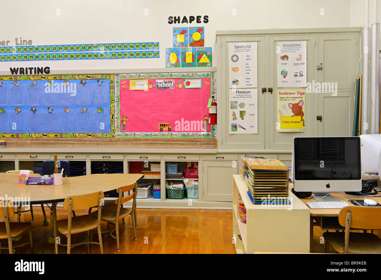 Kindergarten and First Grade classroom. - Stock Image