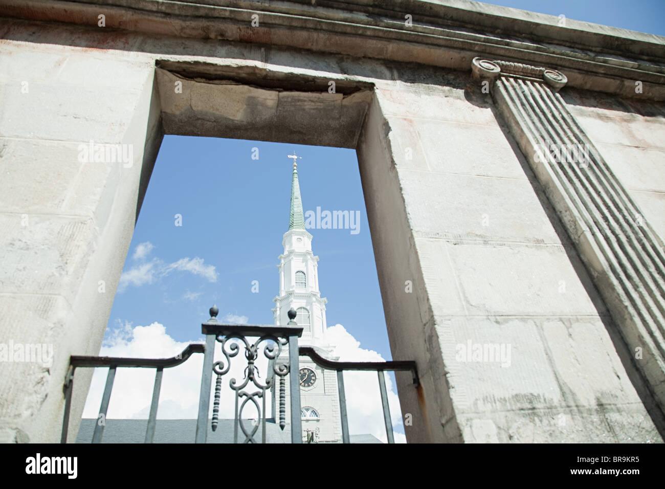 USA, georgia, savannah, independent presbyterian church - Stock Image