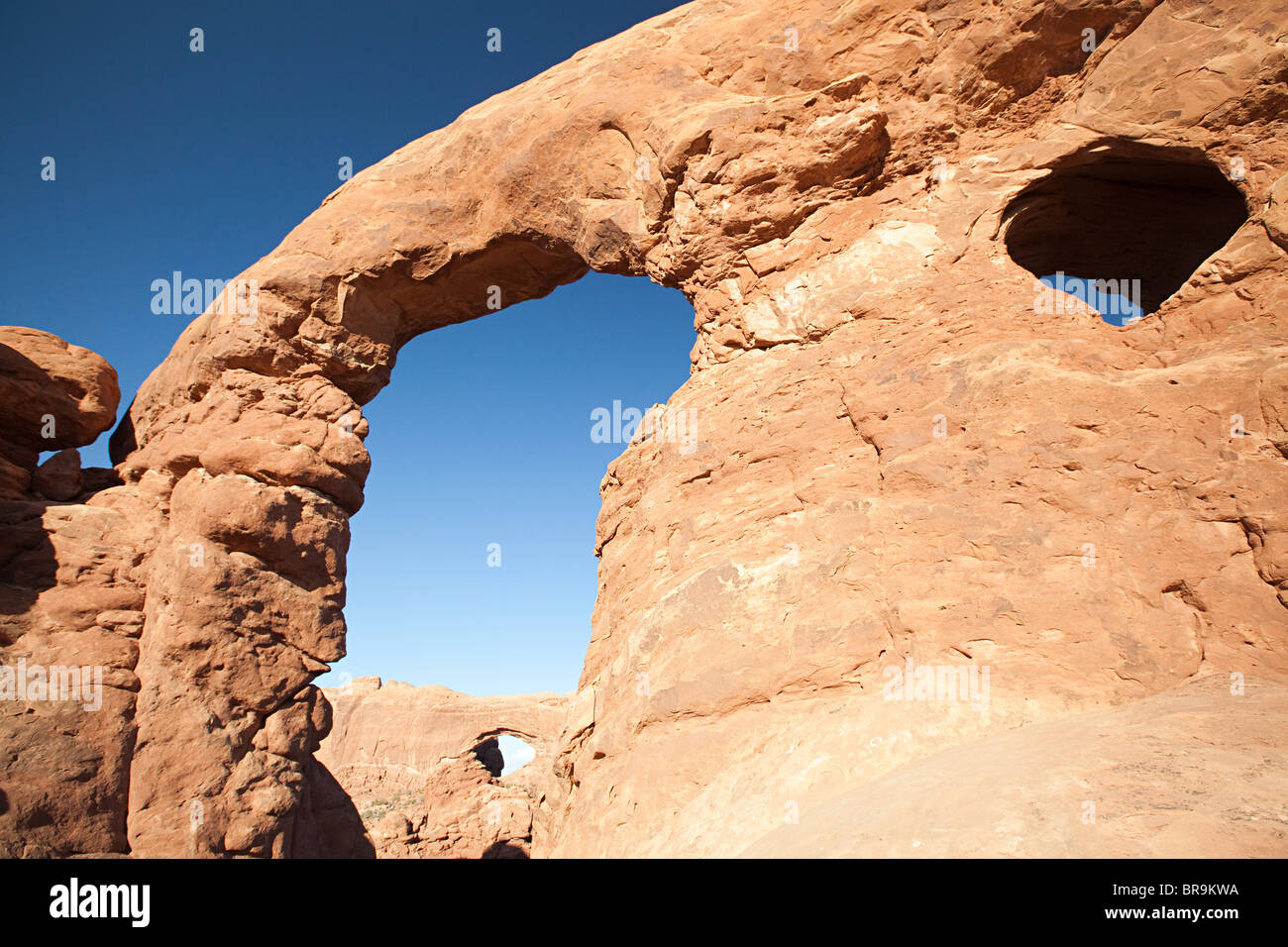Turret Arch, Arches National Park, Moab, Utah, USA - Stock Image