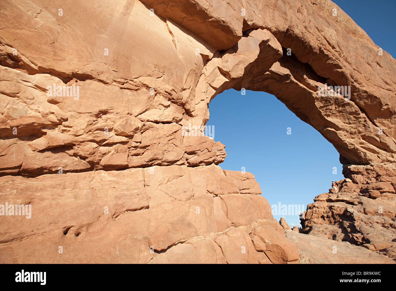 South Window, Arches National Park, Moab, Utah, USA - Stock Image