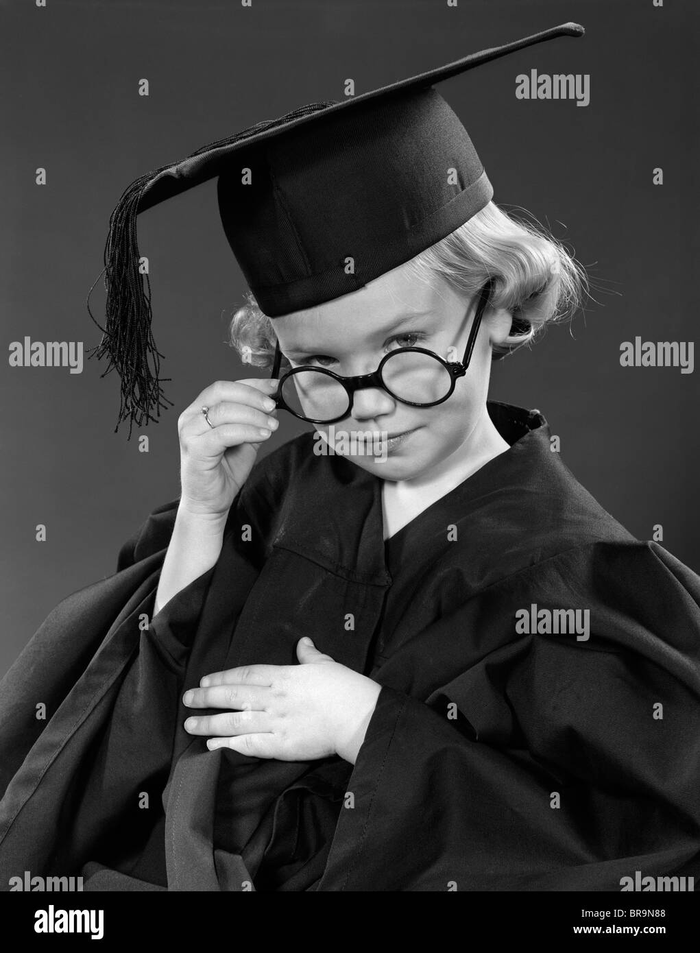 Cap And Gown Black and White Stock Photos & Images - Alamy