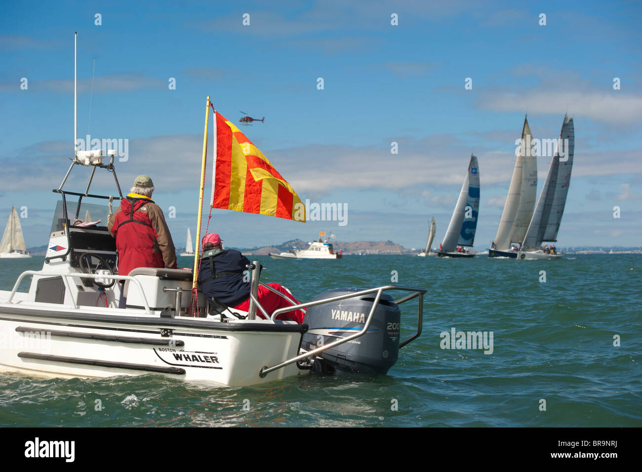 start of irc a division race 6, overseen by the st. francis race committee Stock Photo