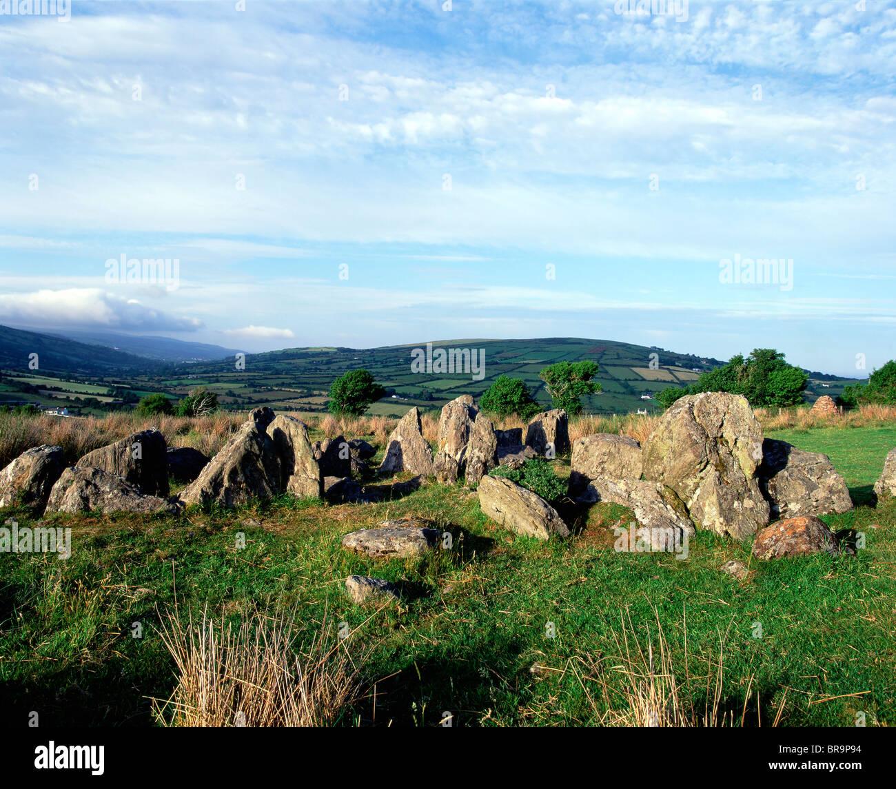 Celtic Archaeology, Ossians Grave, Co Antrim, Ireland - Stock Image