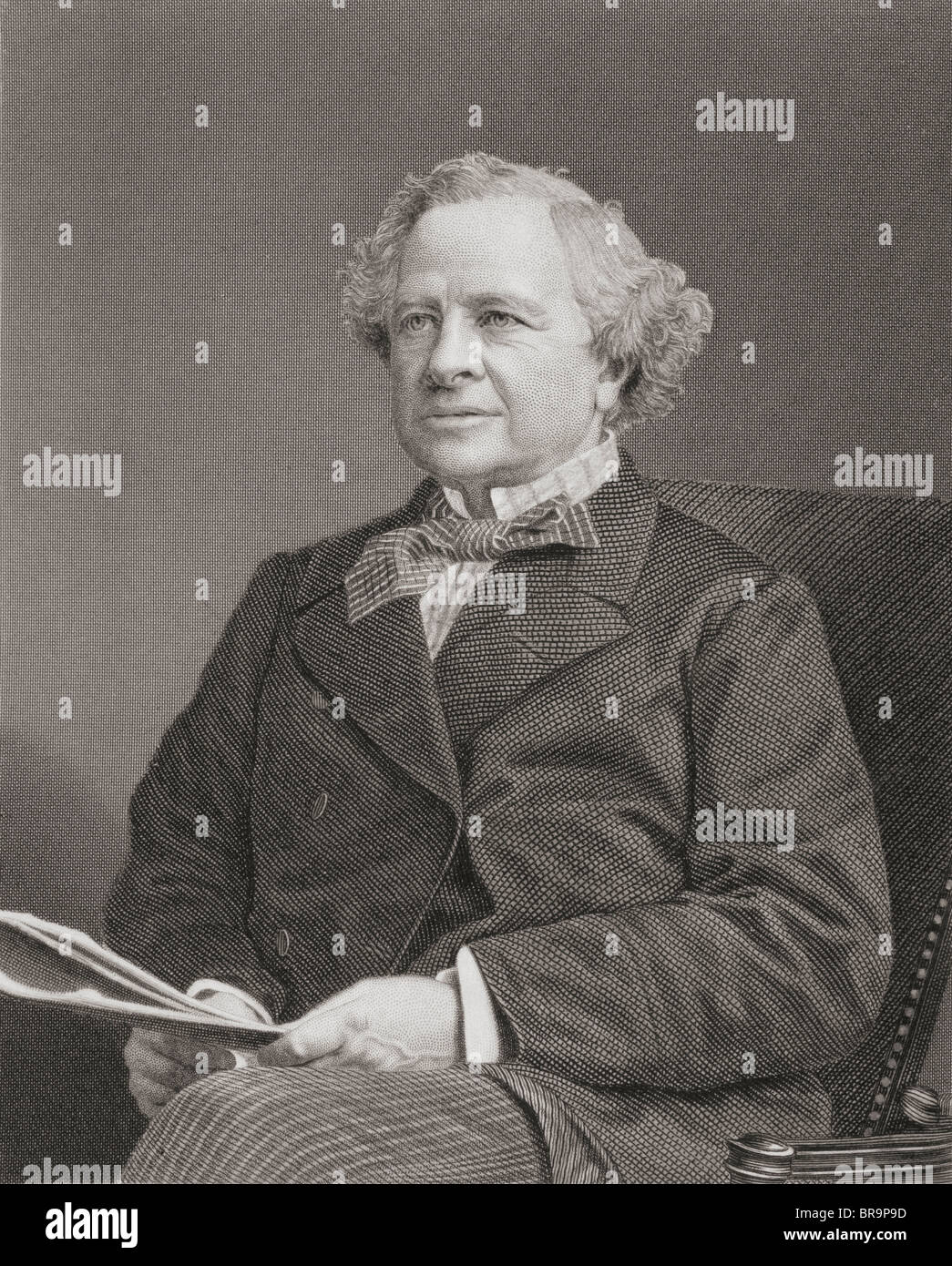 Granville George Leveson Gower, 2nd Earl Granville, 1815 to 1891. British Liberal statesman. - Stock Image
