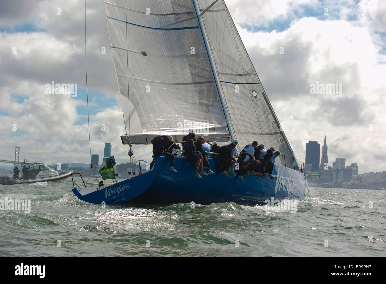 vincitore, a pt 52, winner of rolex irc a division in the big boat race Stock Photo