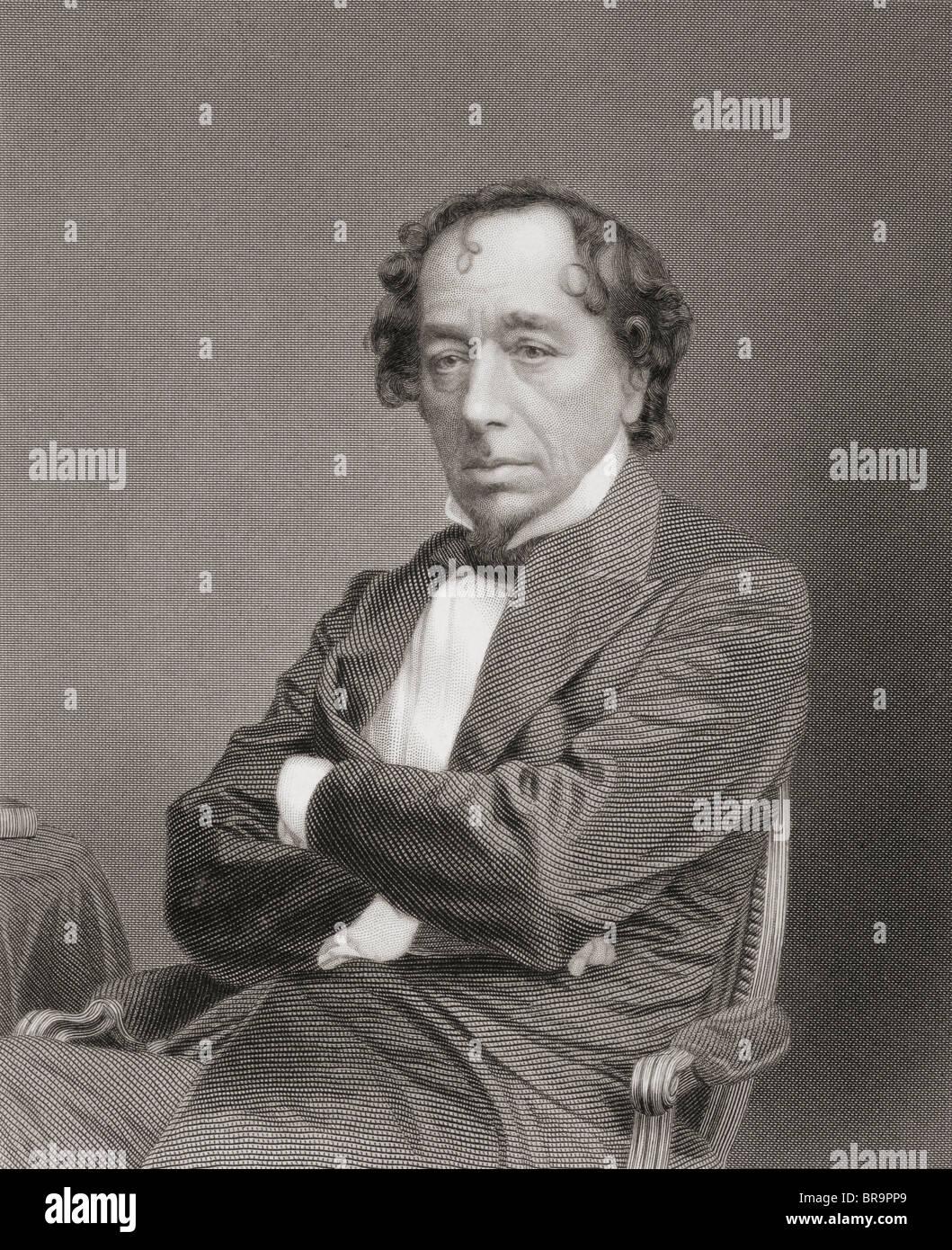 Benjamin Disraeli, 1st Earl of Beaconsfield, 1804 to 1881. British Prime Minister. Stock Photo