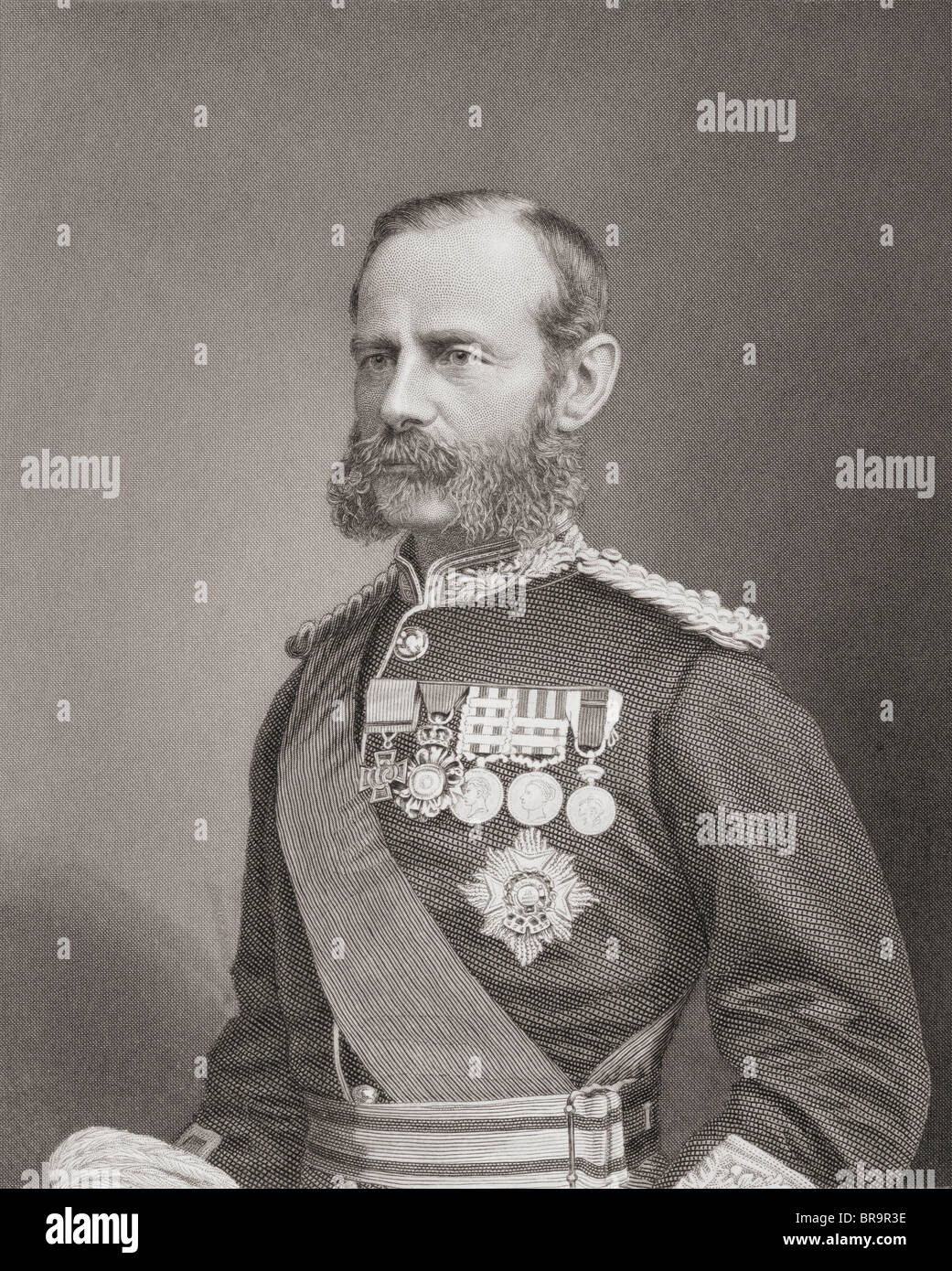 Field Marshal Frederick Sleigh Roberts, 1st Earl Roberts,1832 to 1914. Anglo-Irish soldier and commander. - Stock Image