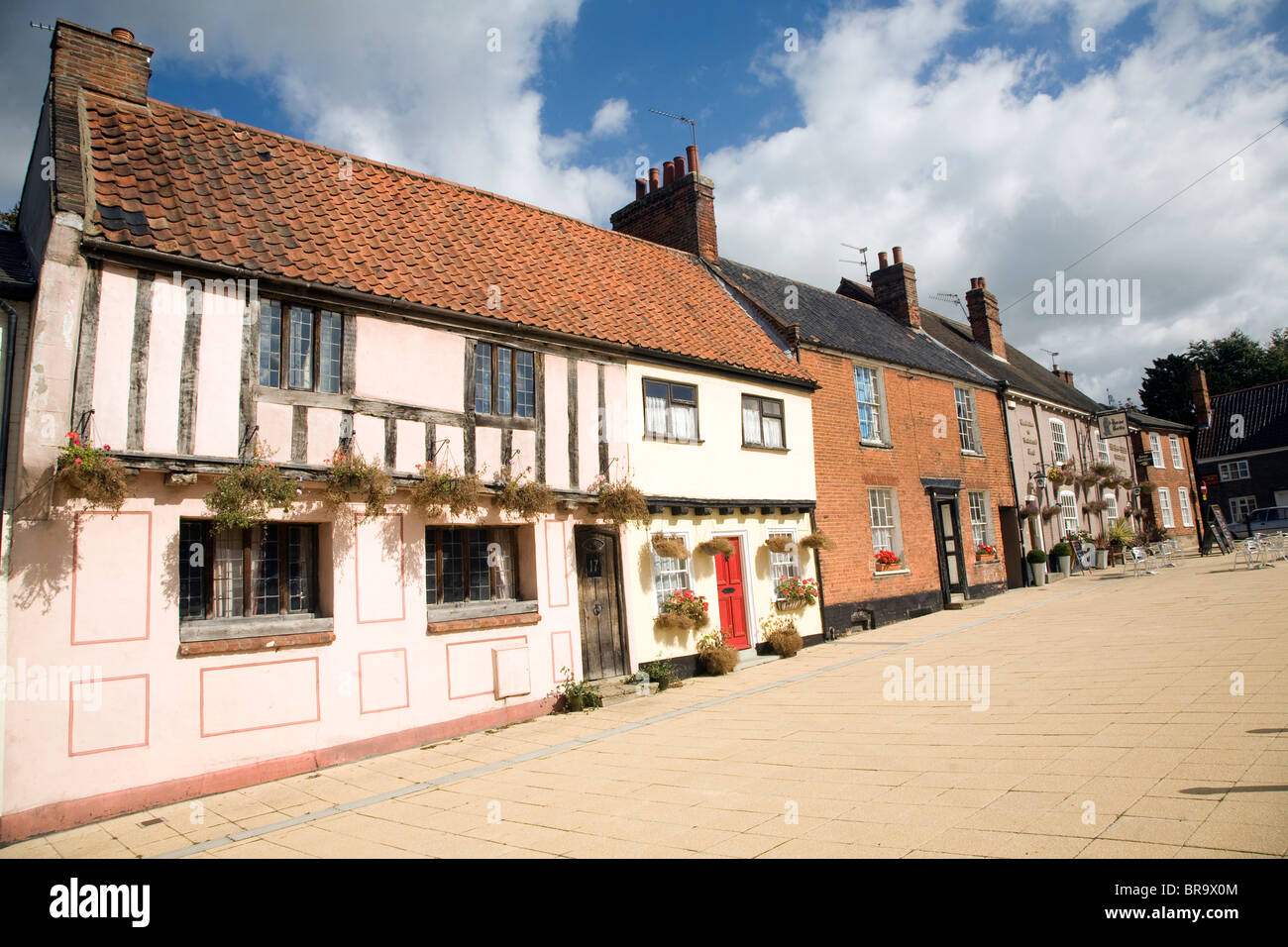 Buildings Old Market, Beccles, Suffolk, England - Stock Image