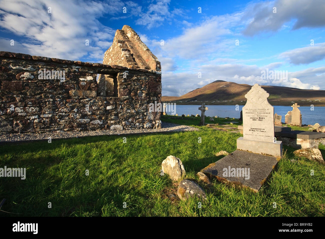 Churchyard on Achill Island, County Mayo, Ireland - Stock Image