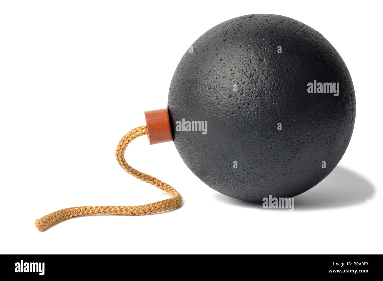 Round Bomb with Fuse - Stock Image