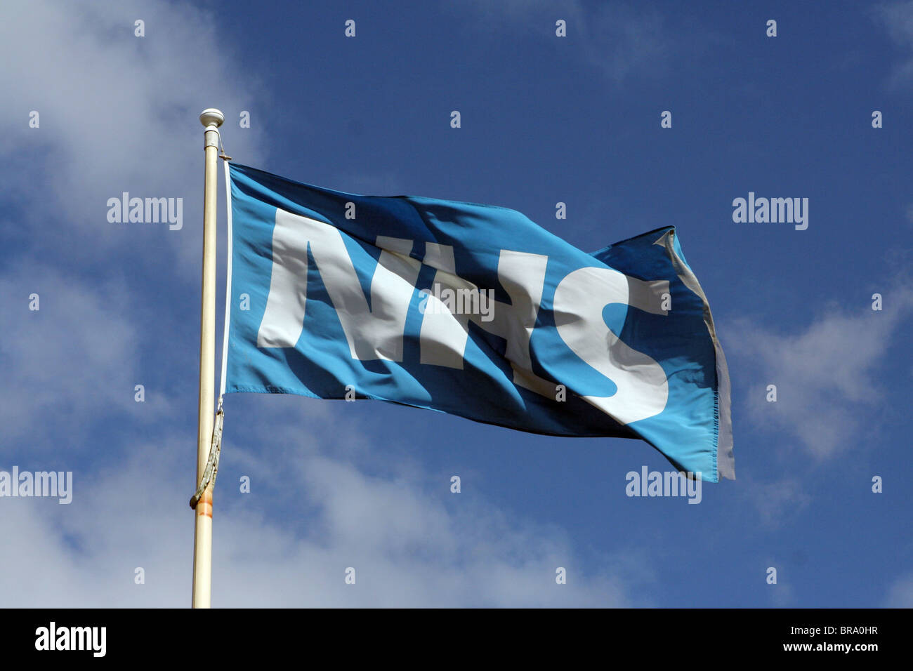 NHS (National Health Service) flag in England, UK - Stock Image