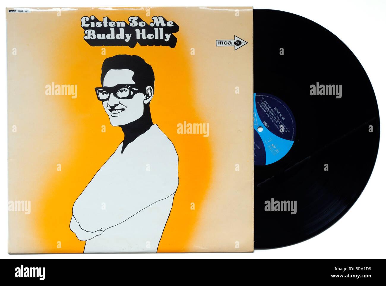 Buddy holly Listen to Me album - Stock Image