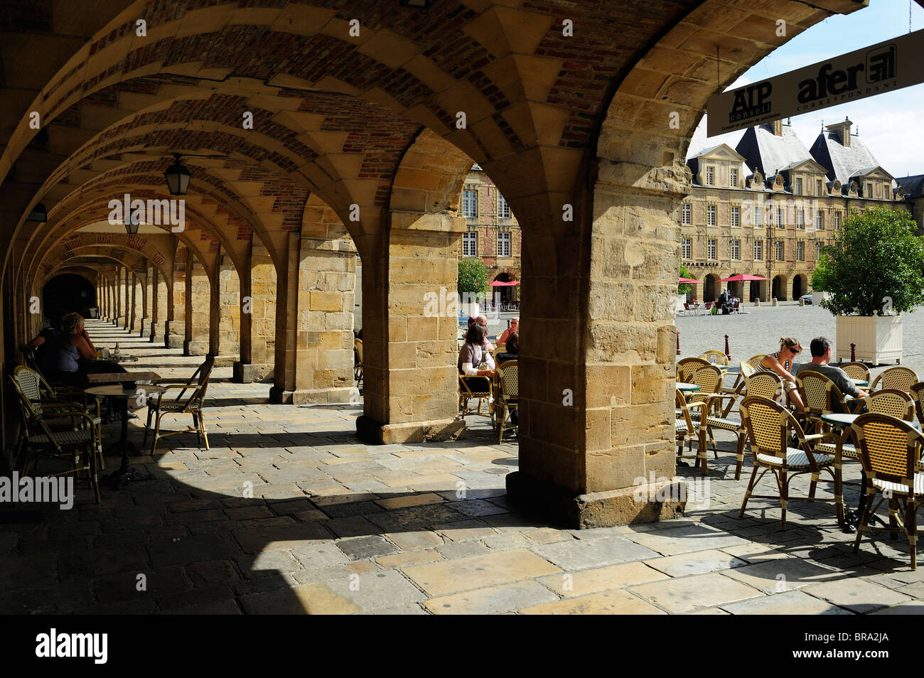 Place Ducale in Charleville in Ardennes region of France - Stock Image