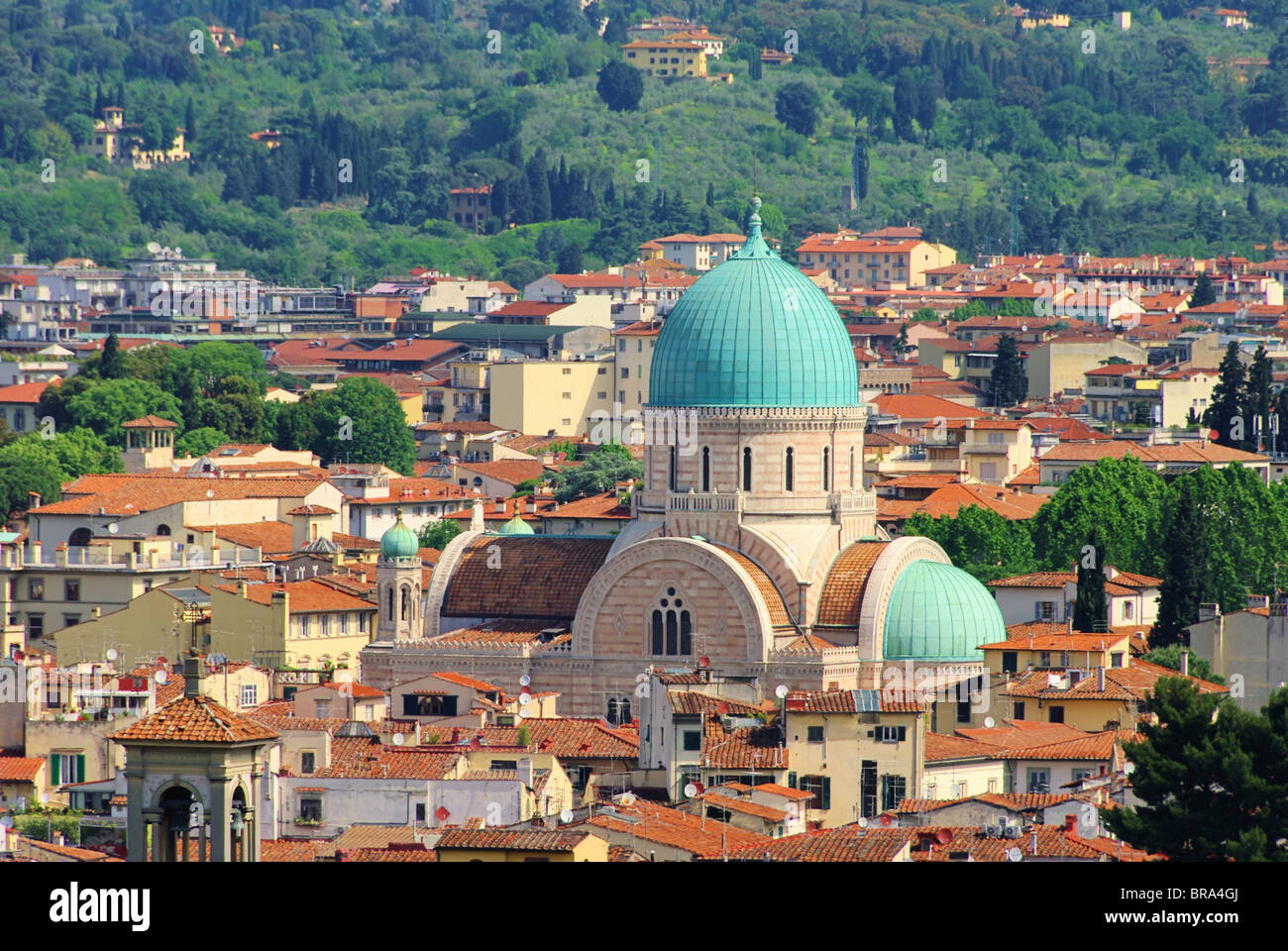 Florenz Synagoge - Great Synagogue of Florence 01 Stock Photo