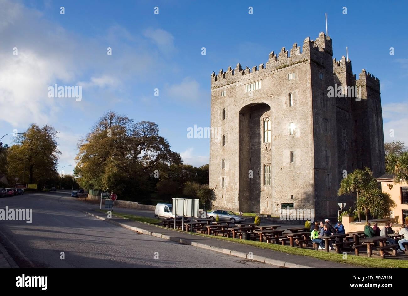 Bunratty Castle, Co Clare, Ireland; 15Th Century Castle - Stock Image