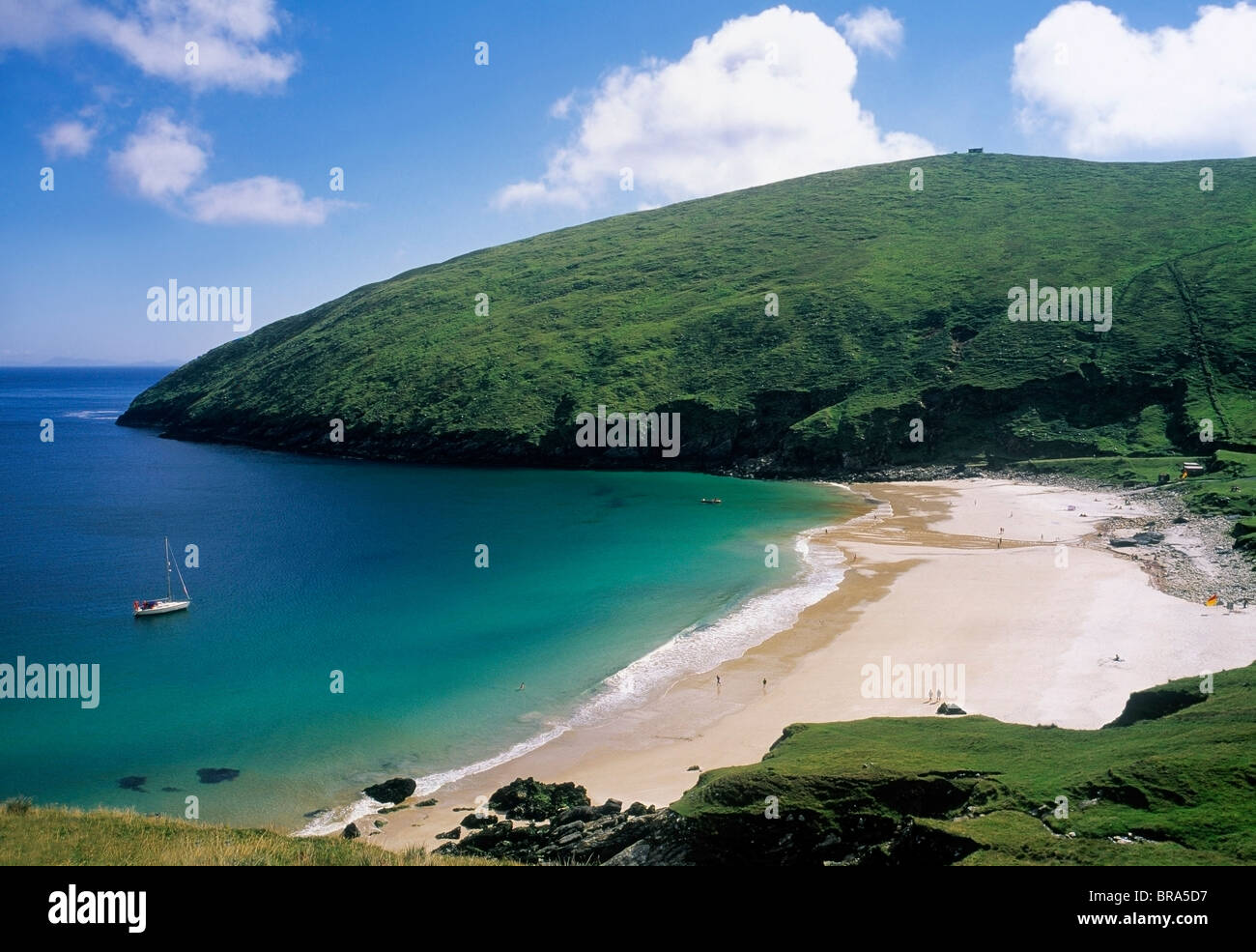 Keem Bay, Achill Island, Co Mayo, Ireland - Stock Image