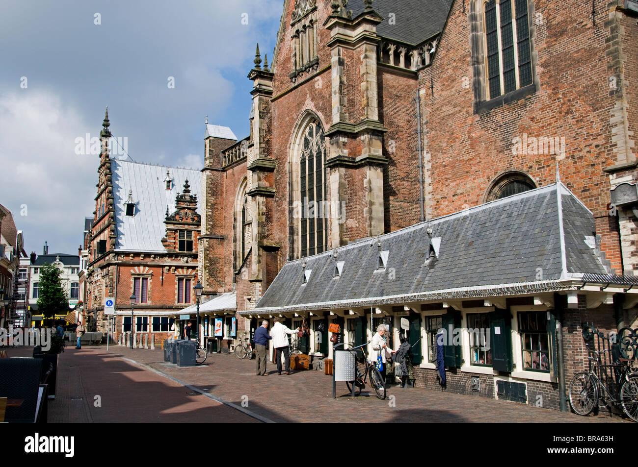Haarlem Netherlands The Grote Kerk St Bavokerk Stock Photo