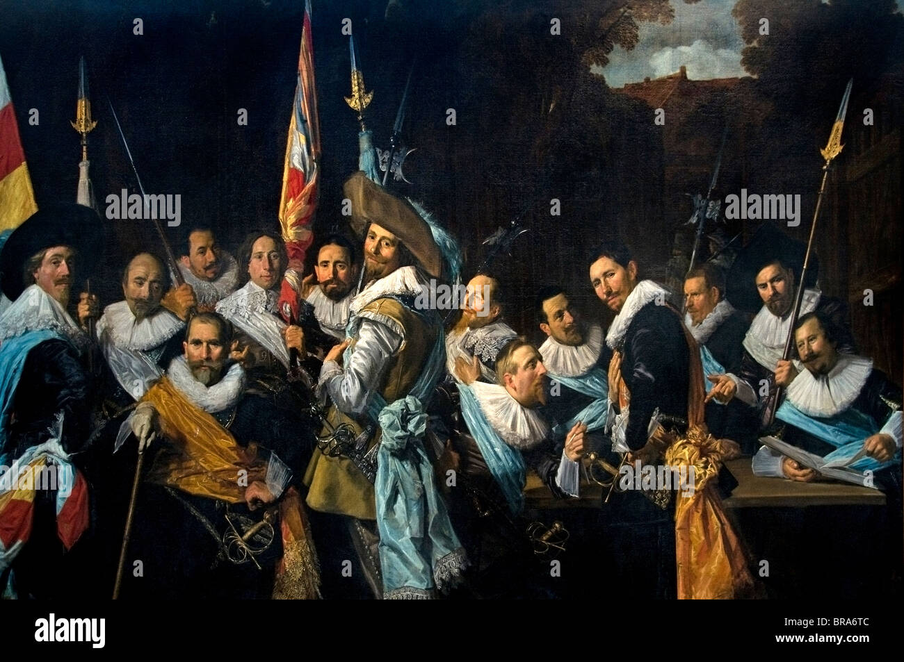 Netherlands Frans Hals   1582-1666Painting Meeting officers and subalters of the Callivermen Civic Guard 1633 - Stock Image