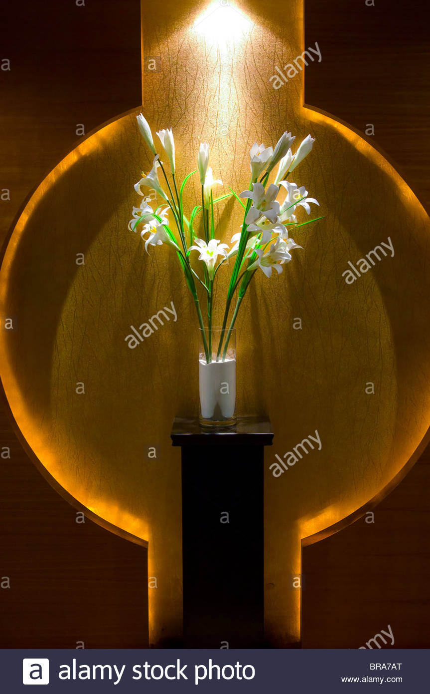 Floral design, Legend Holiday Hotel, Changzhou, China - Stock Image