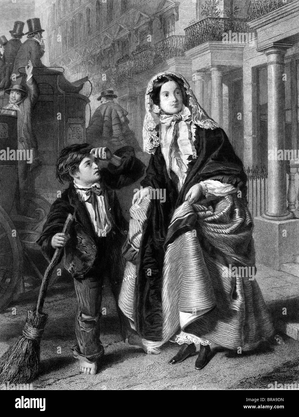 1800s The Crossing Sweeper Victorian London Street Urchin