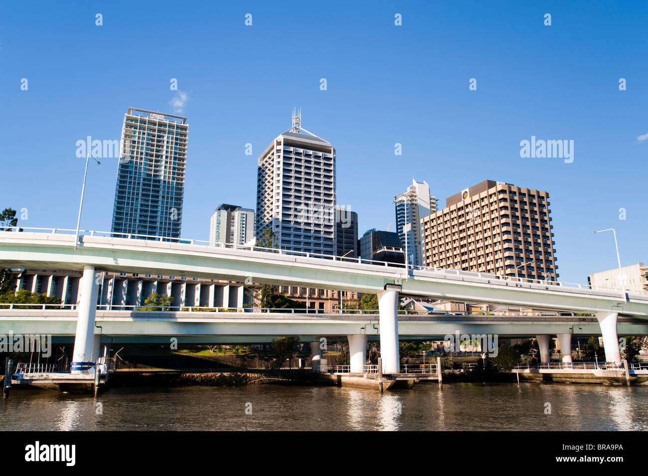 City and highways, Brisbane, Queensland, Australia, Pacific - Stock Image