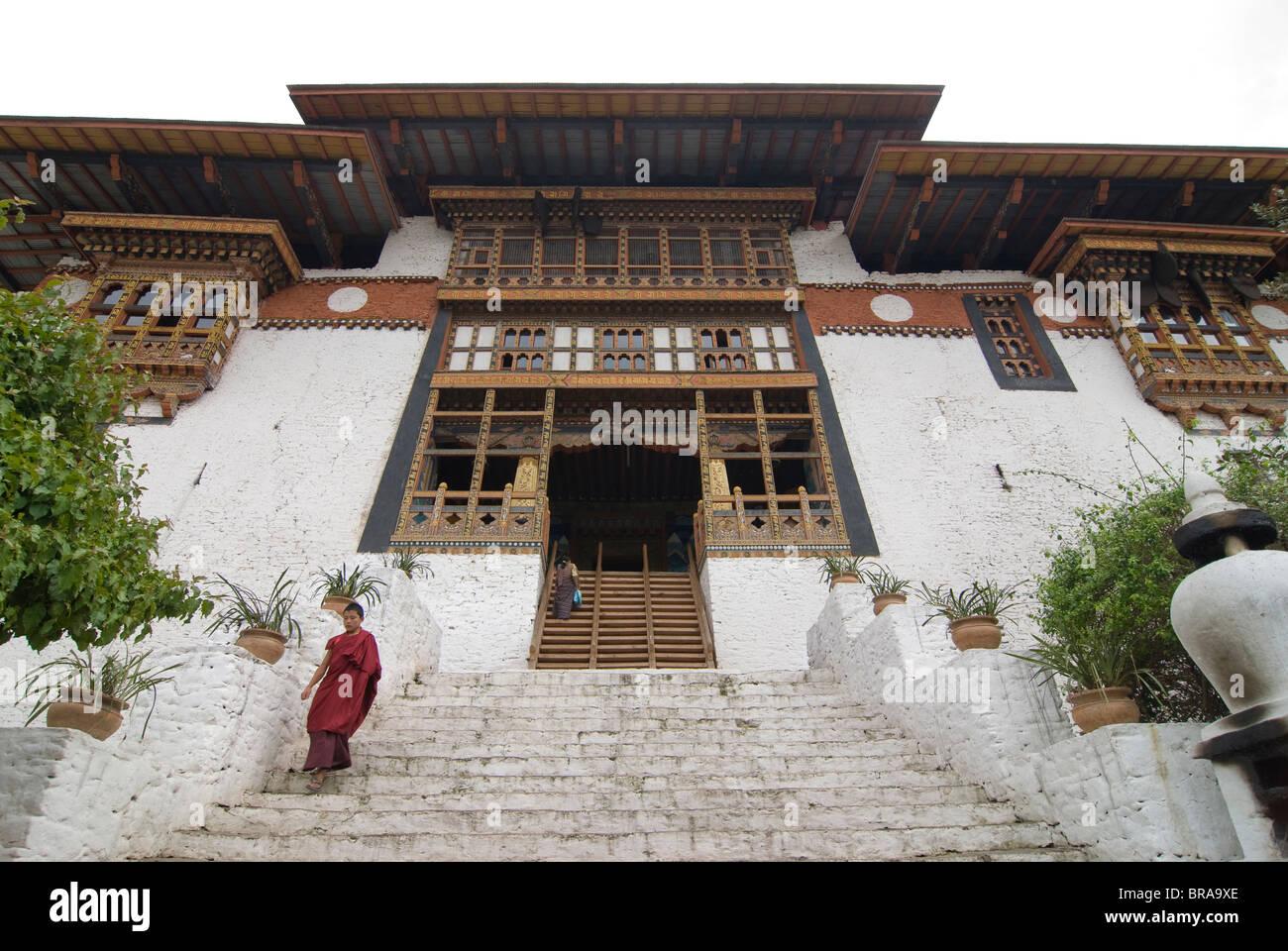 The tsong (old castle) of Punakha, Bhutan, Asia - Stock Image