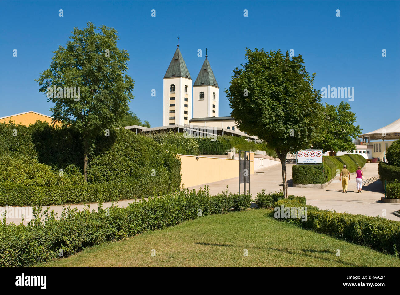 St. James Church in Medugorje, Bosnia-Herzegovina, Europe - Stock Image