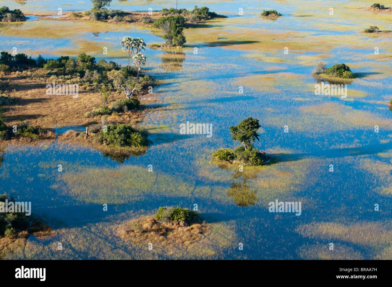 Aerial view of Okavango Delta, Botswana, Africa - Stock Image