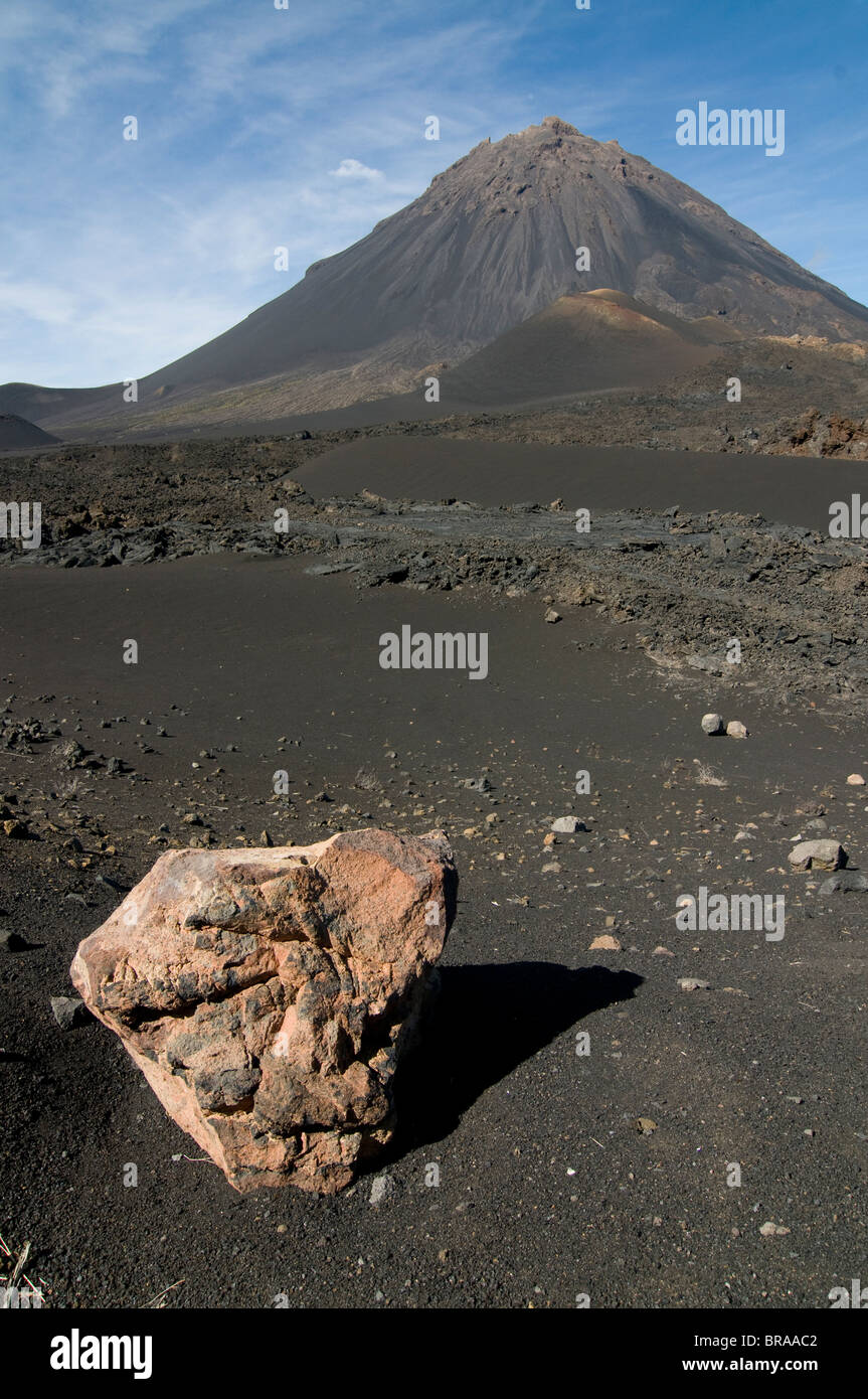 Volcano on Fogo, Cape Verde Islands, Africa Stock Photo
