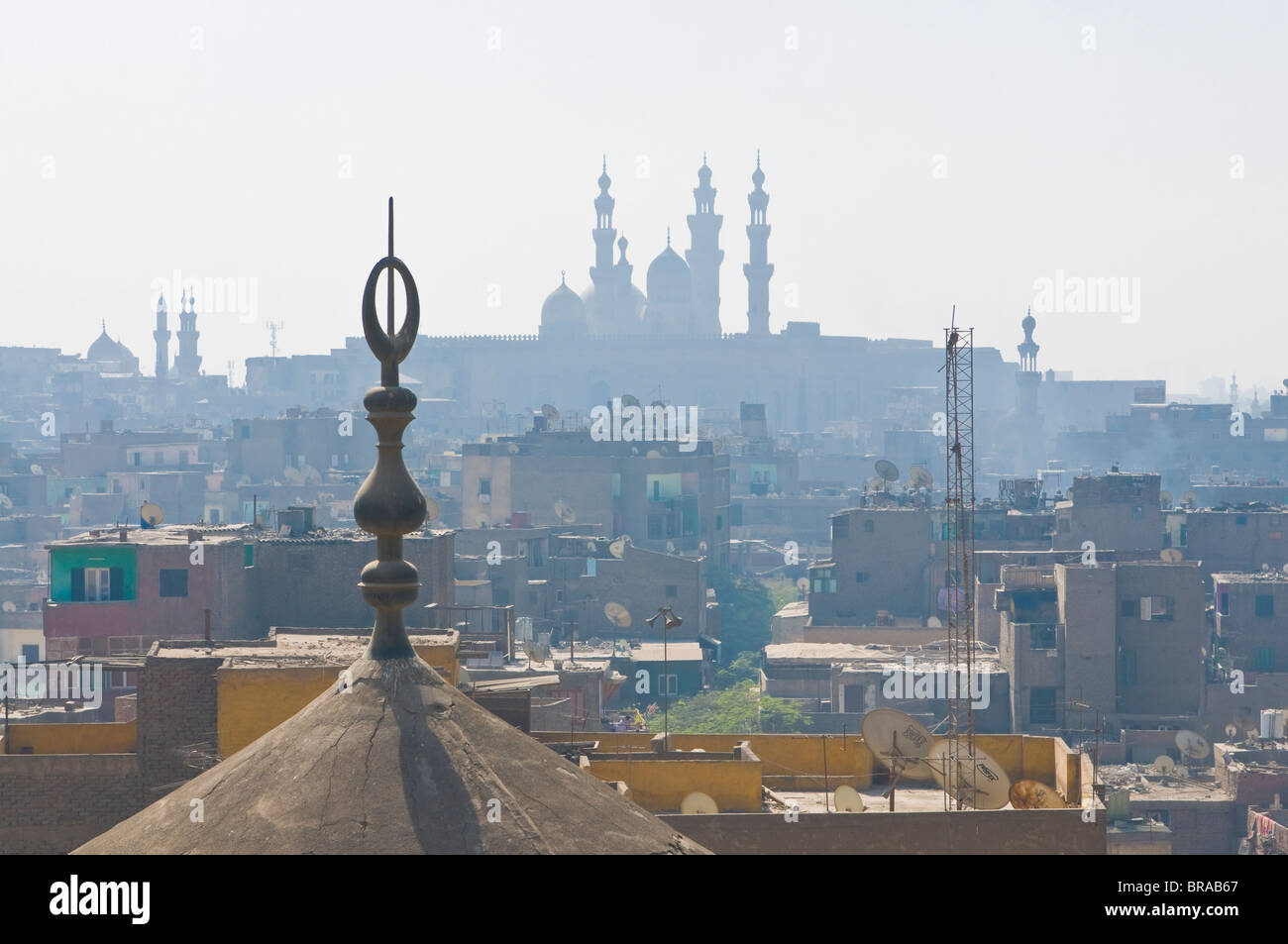 View over the roofs of the old city of Cairo, Egypt, North Africa, Africa - Stock Image