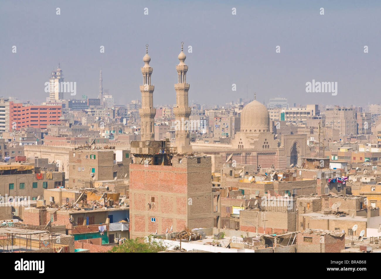 View over the roofs of the old city, Cairo, Egypt, North Africa, Africa - Stock Image