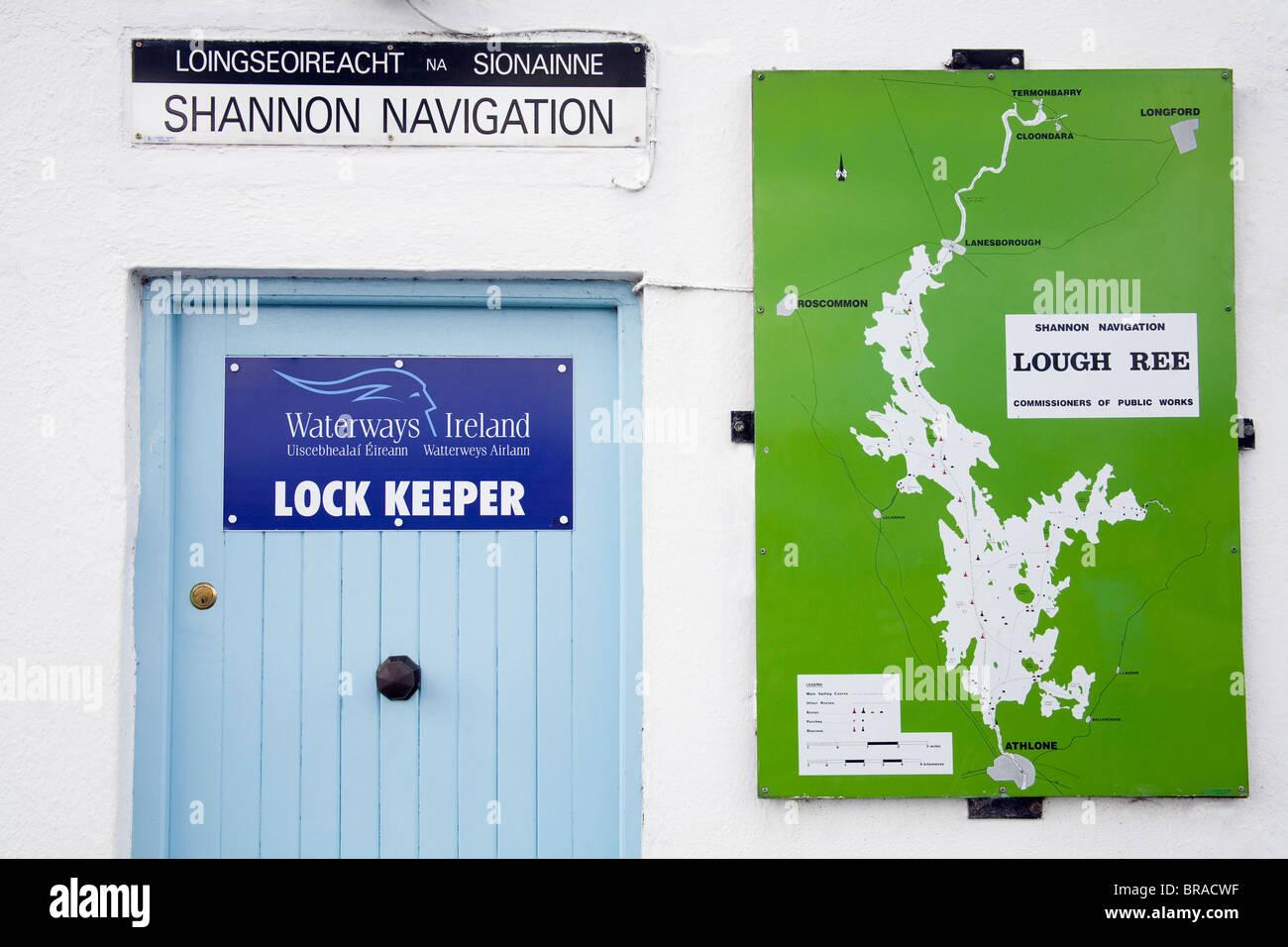 Lock Keeper, River Shannon Lock, Athlone, County Westmeath, Ireland Stock Photo