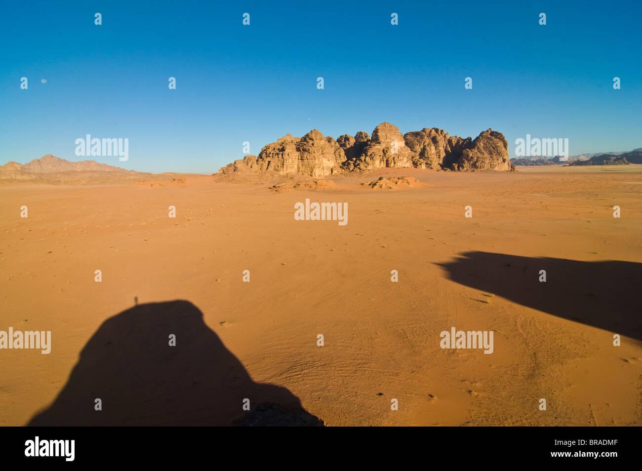 The stunning desert scenery of Wadi Rum, Jordan, Middle East Stock Photo
