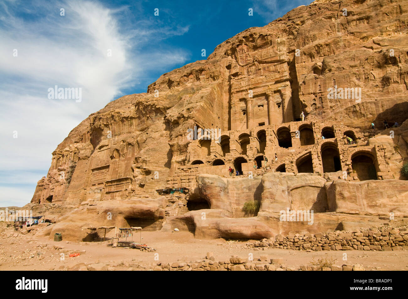 The royal tombs of Petra, UNESCO World Heritage Site, Jordan, Middle East - Stock Image
