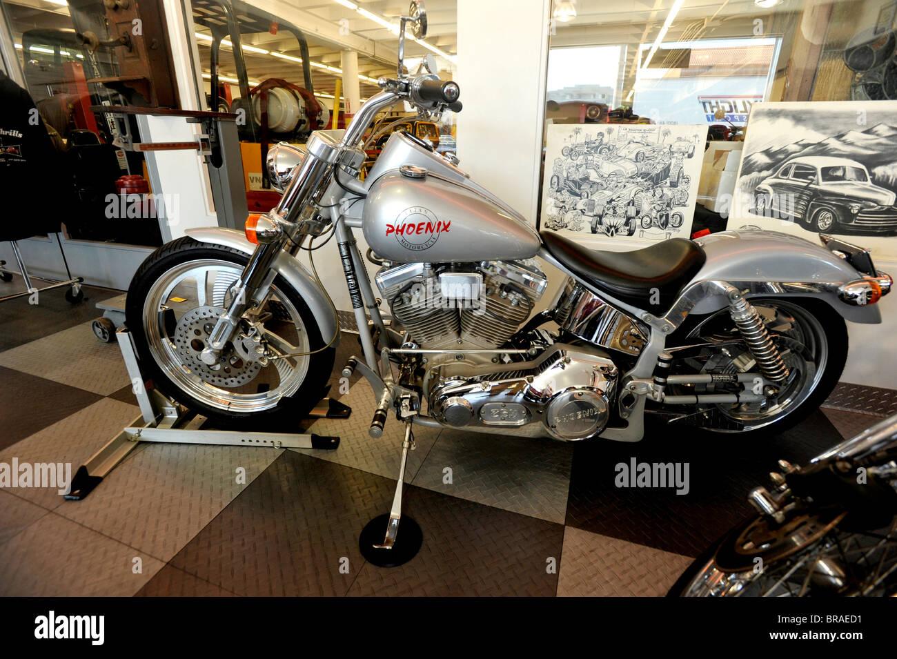 Phoenix Motorcyle in Showroom - Stock Image