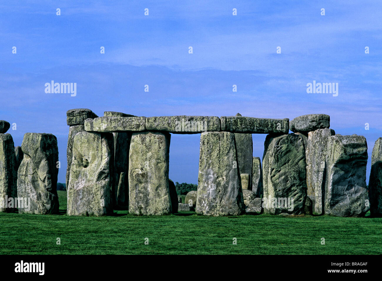close-up abstract of the stones at Stonehenge in England Stock Photo