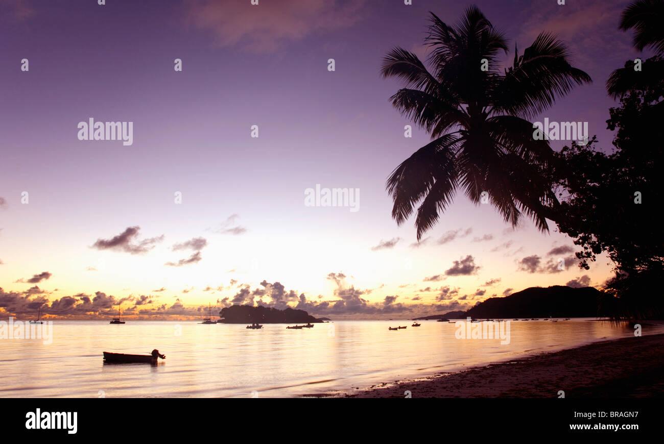 View across Anse Volbertto, Seychelles, Indian Ocea Stock Photo