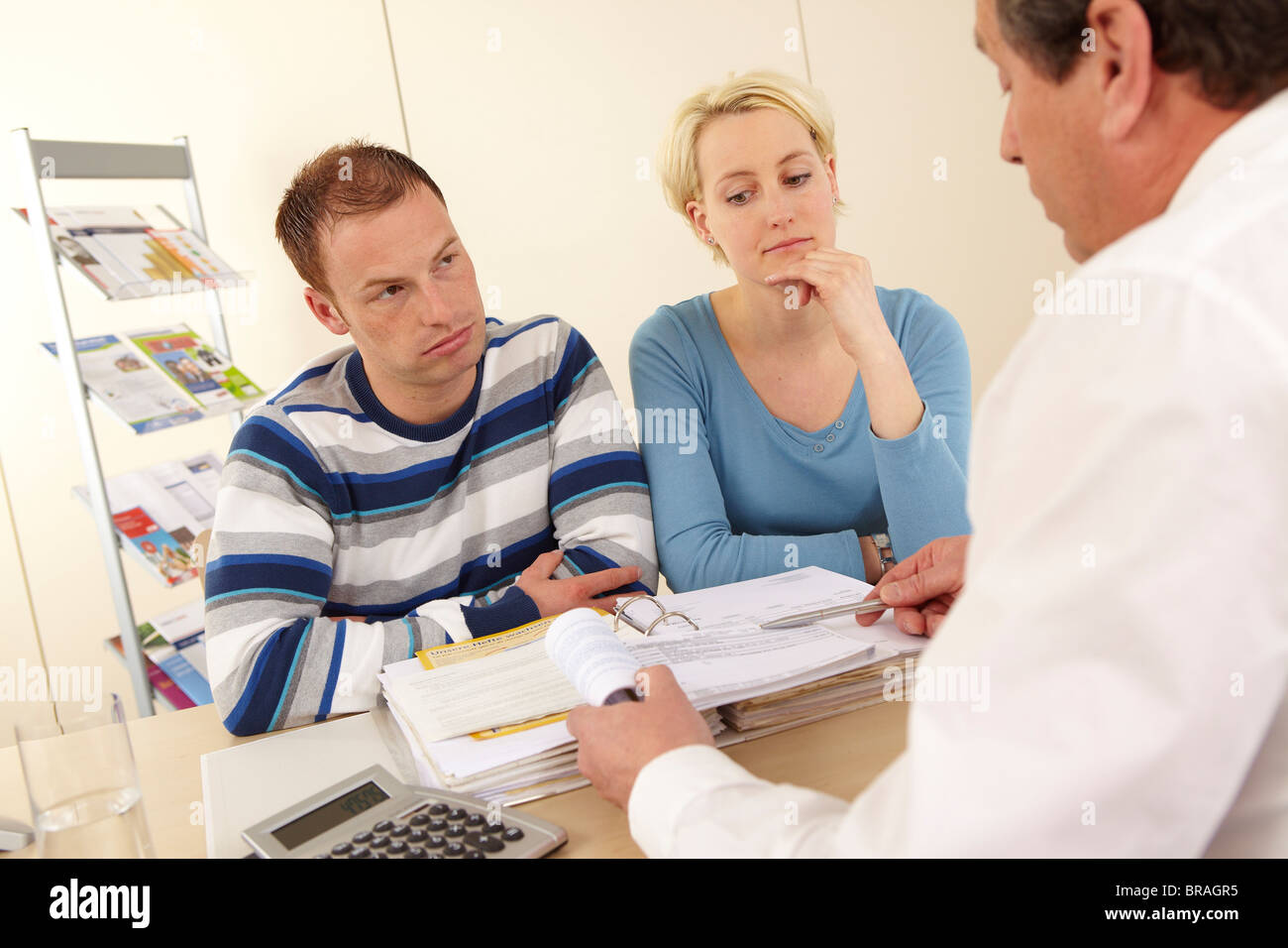 Young couple having financial problems - Stock Image