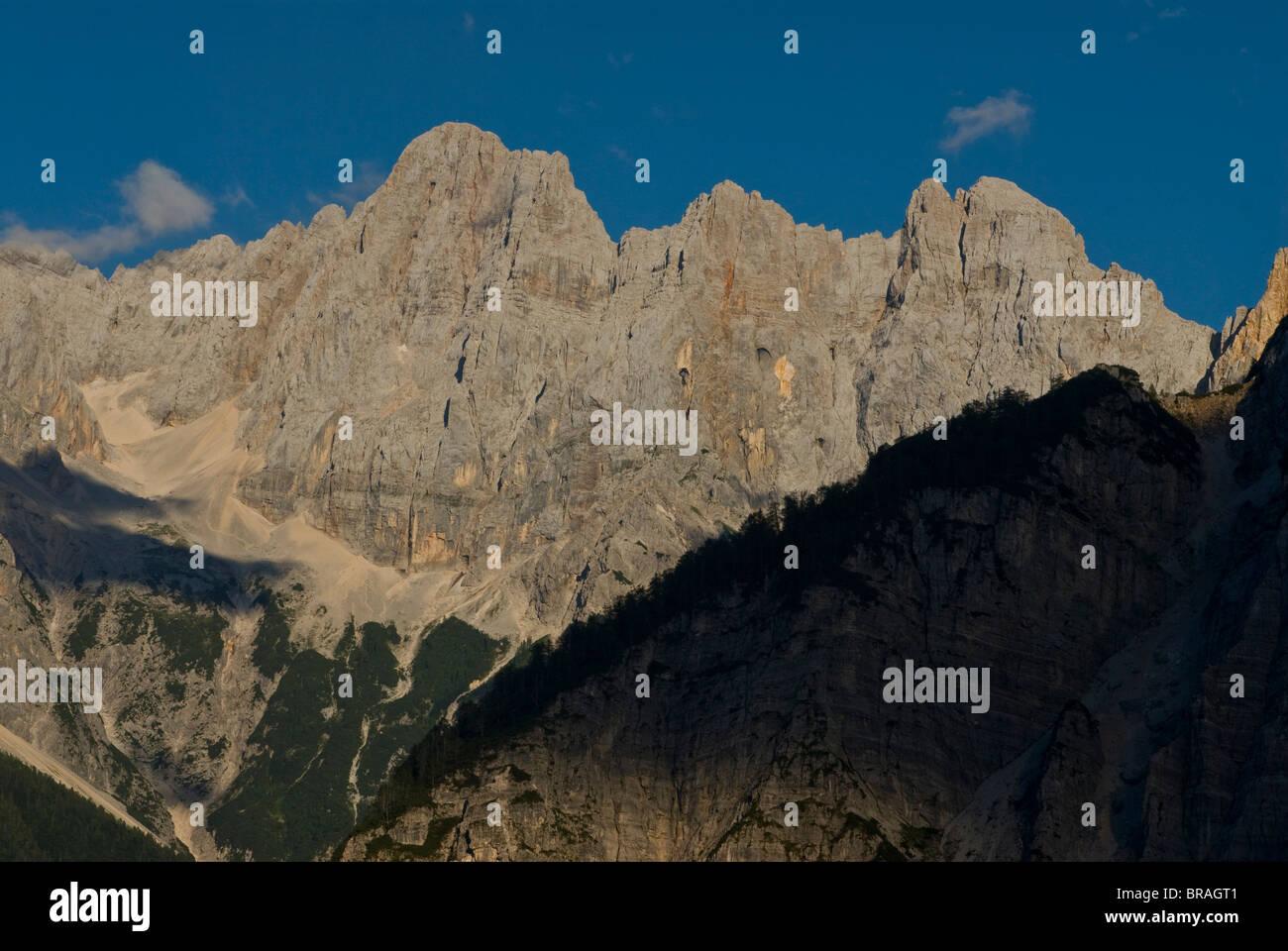 Vrsic Pass in the Julian Alps, Slovenia, Europe - Stock Image