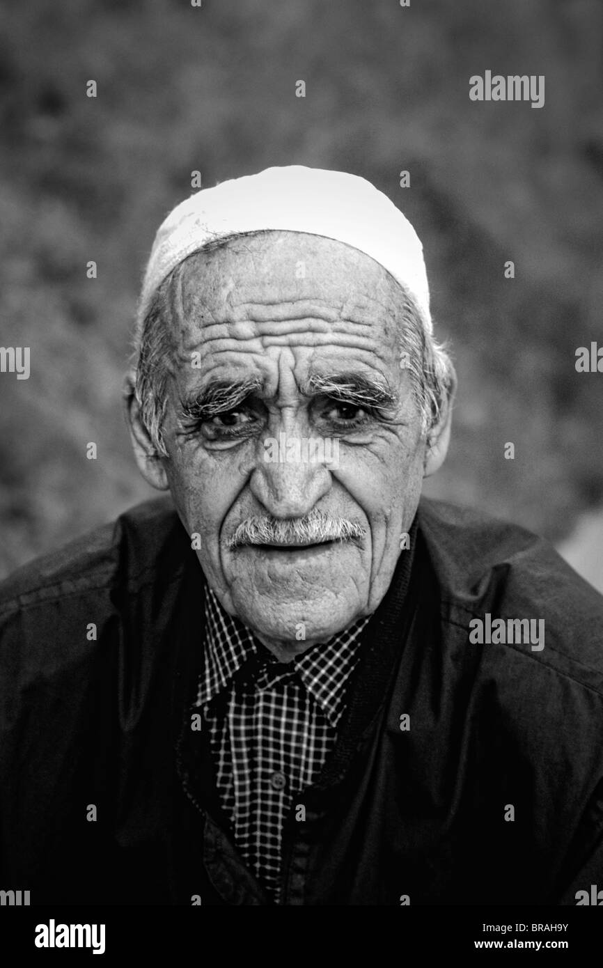 Portrait of local man in Albania near Tirana - Stock Image