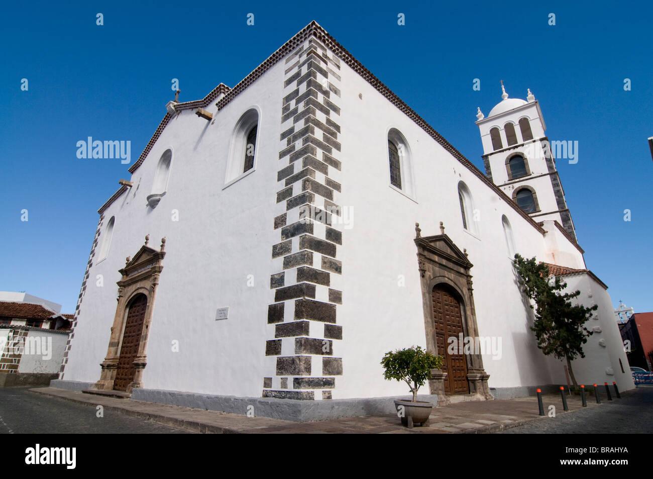 Iglesia de Santa Ana, Garachico, Canary Islands, Spain, Europe - Stock Image
