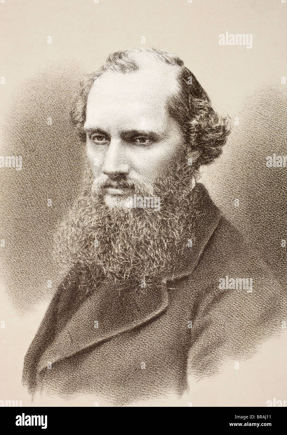 Lord William Thomson Kelvin 1824 - 1907. Belfast born physicist and mathematician. - Stock Image